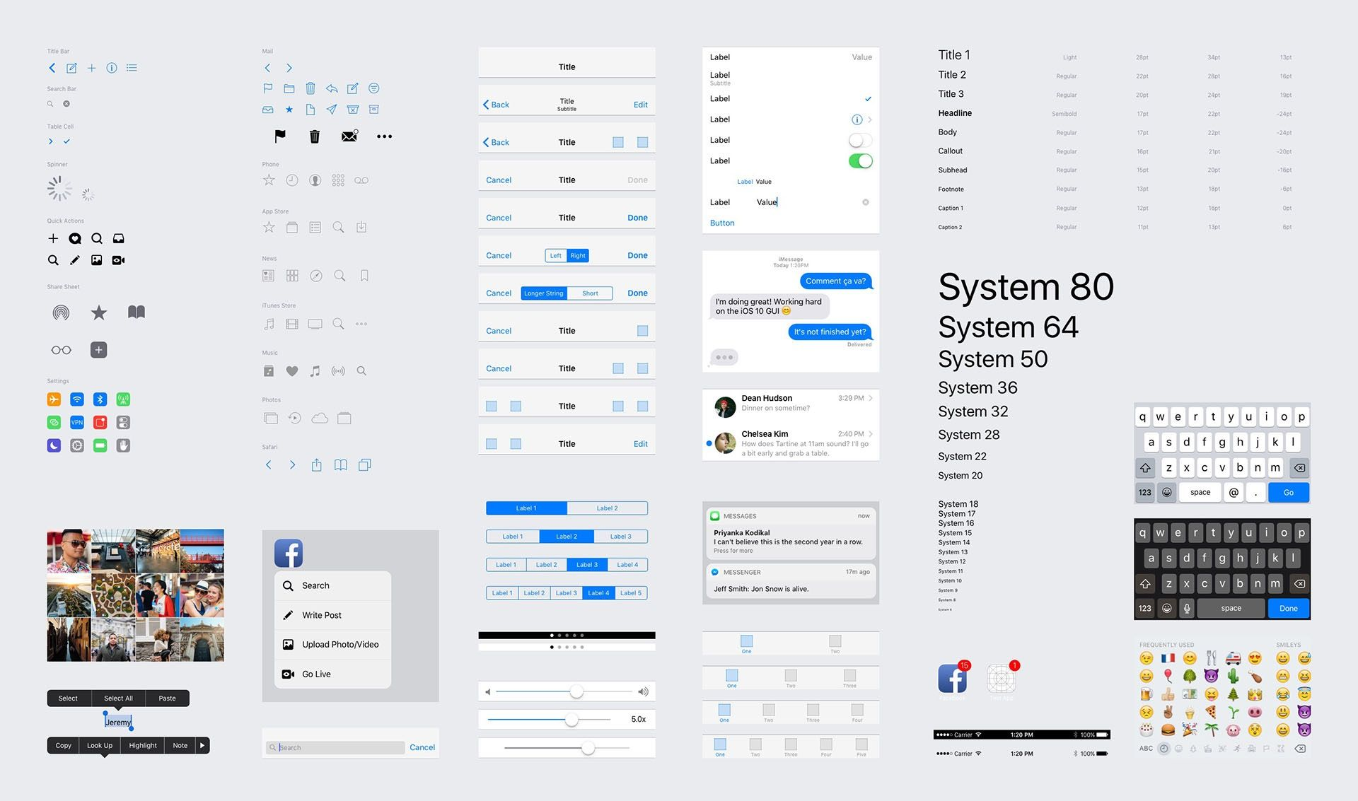 Free Download: iOS 10 UI Kit (iPhone) for Sketch, Photoshop, Figma