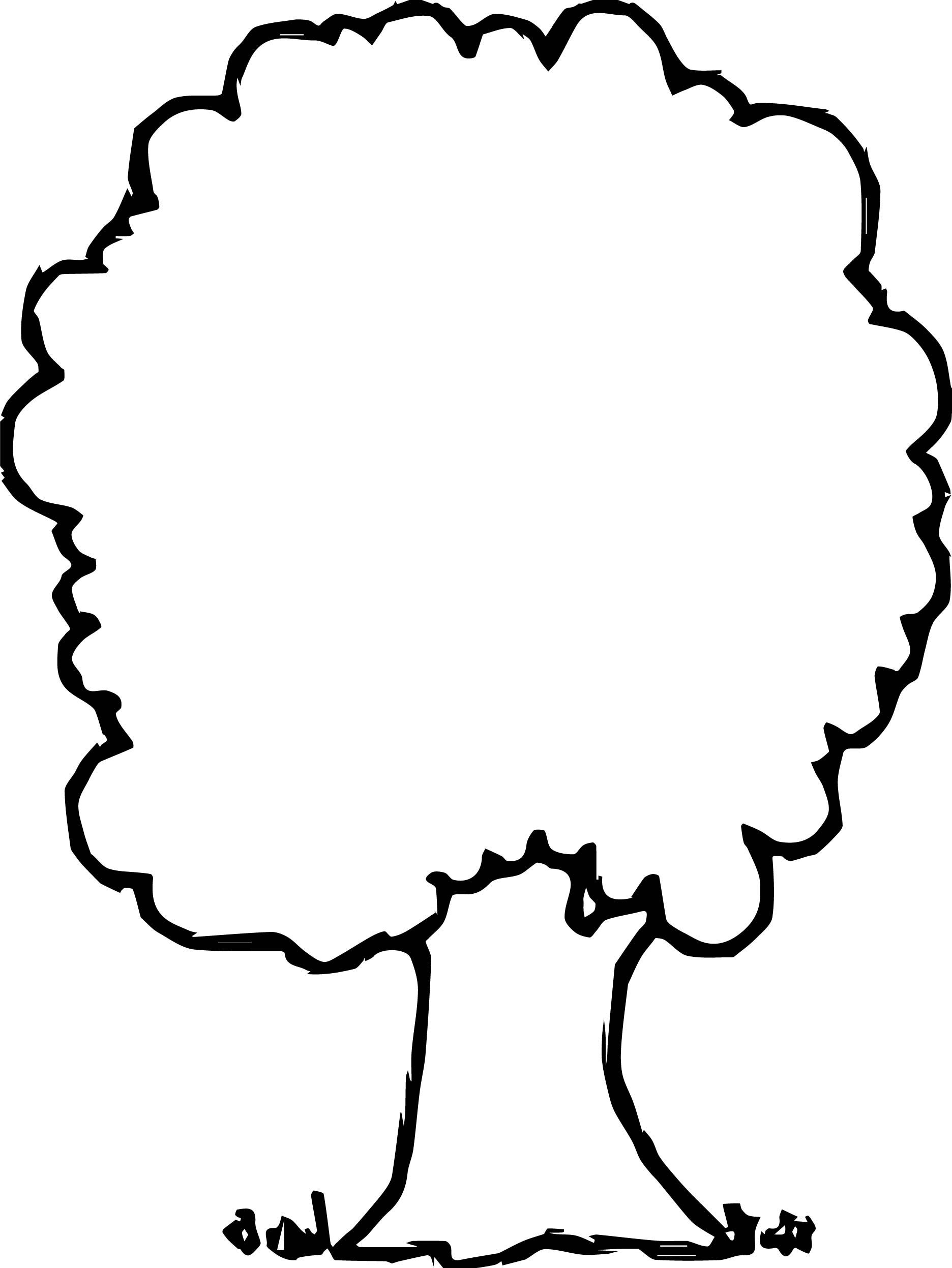 Nice Simple Empty Apple Tree Coloring Page Tree Coloring Page Easy Coloring Pages Simple Tree