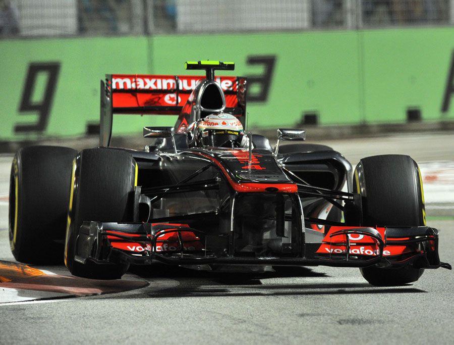 Lewis Hamilton attacks the kerbs | Formula 1 photos | ESPN F1
