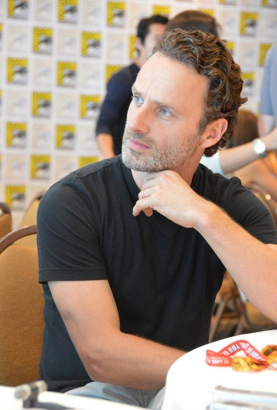 When he thinks. | 56 Situations Where Andrew Lincoln Looks Absolutely Charming