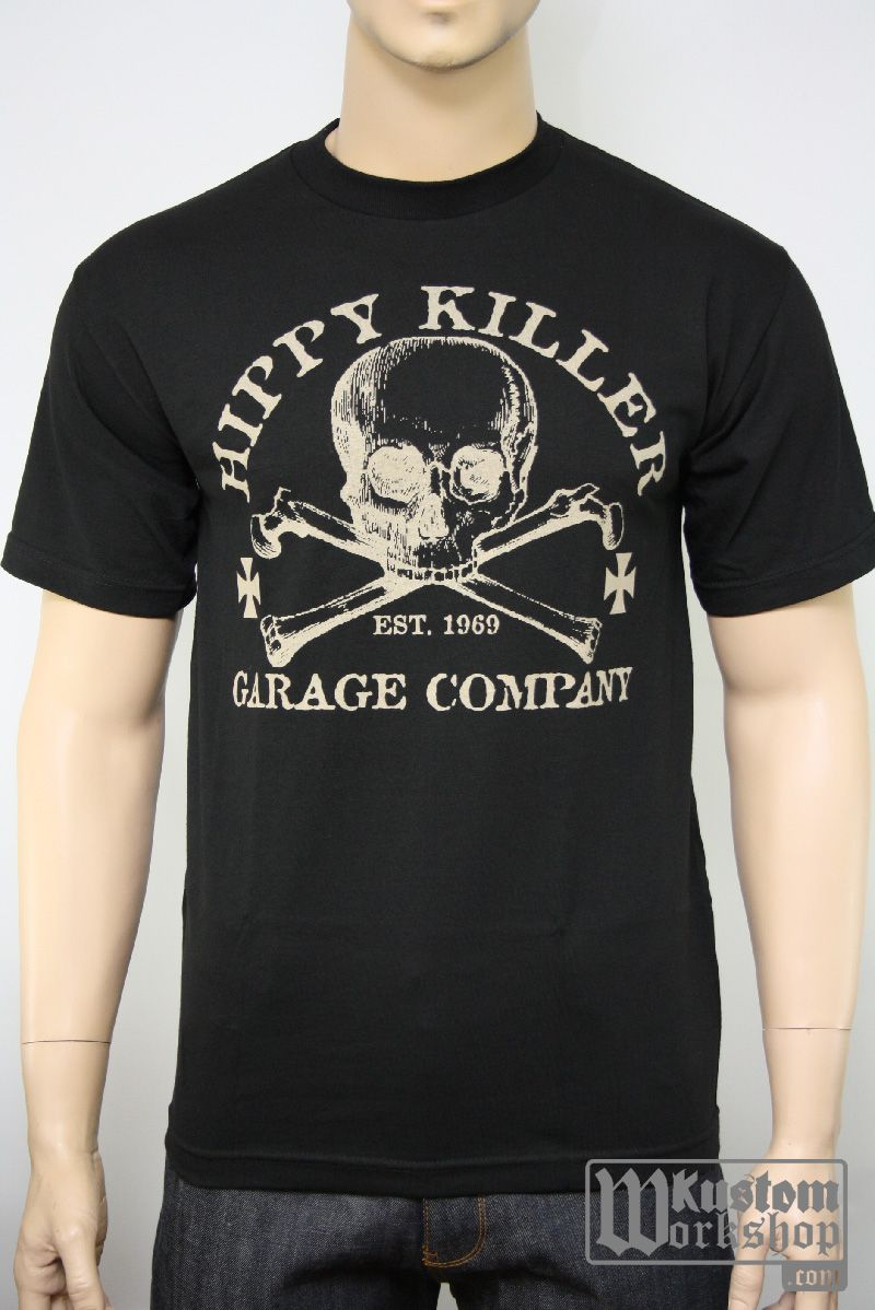 T Shirt Hippy Killer Garage Kustom Work Shop Boutique Custom I
