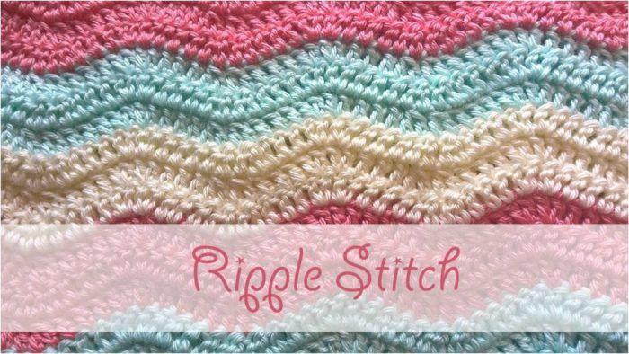 Ripple Stitch Step By Step Crochet Tutorial #grinchscarfcrochetpatternfree