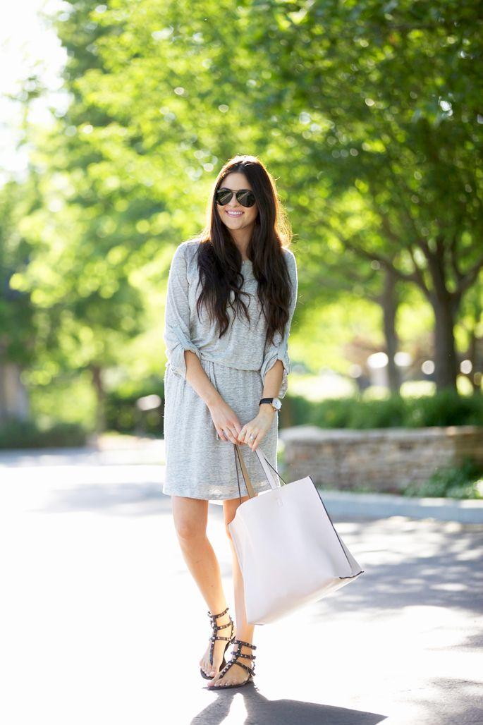 grey-vince-draw-string-dress