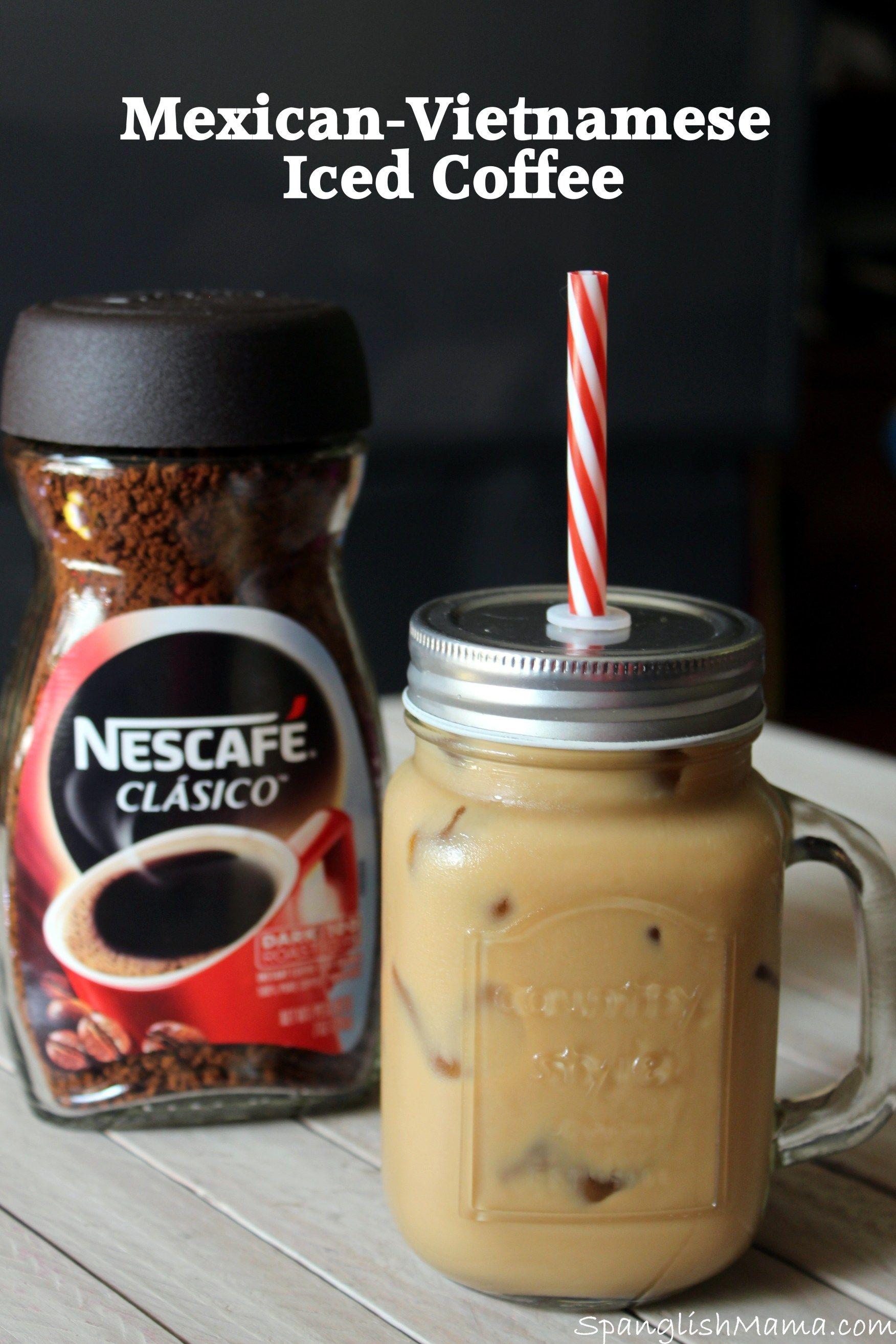 NESCAFÉ® Clásico™ MexicanVietnamese Iced Coffee Recipe