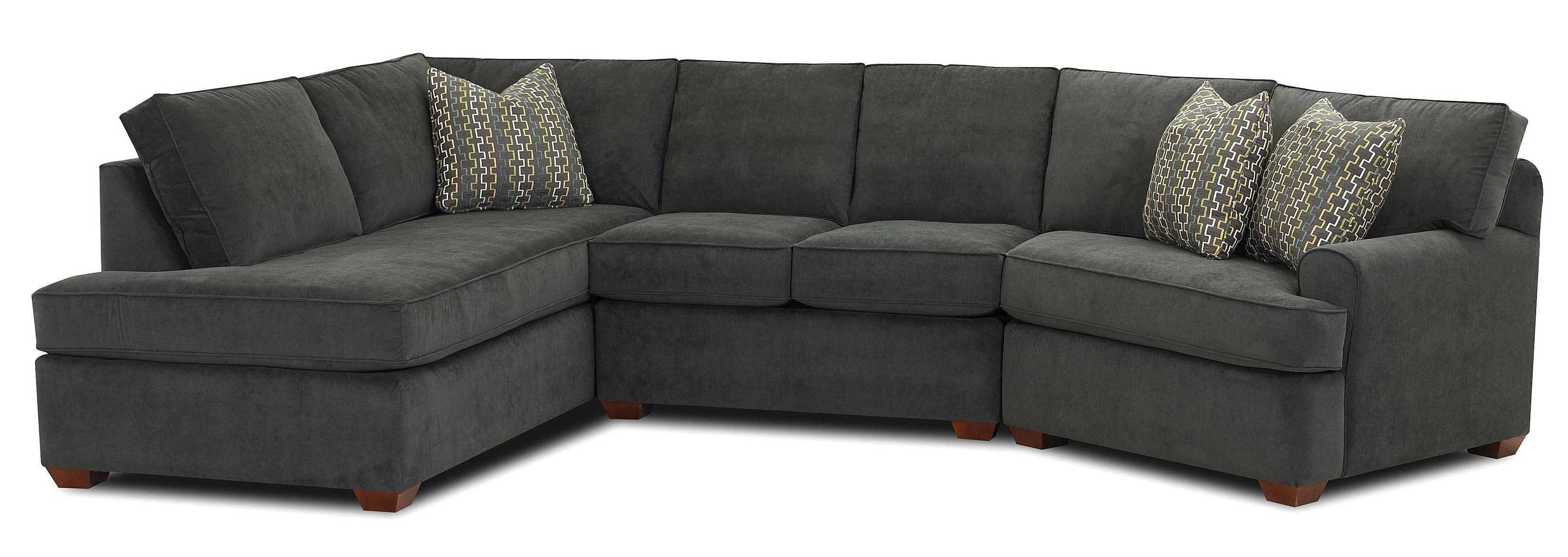 Hybrid Sectional Sofa by Klaussner Morris Home Furnishing