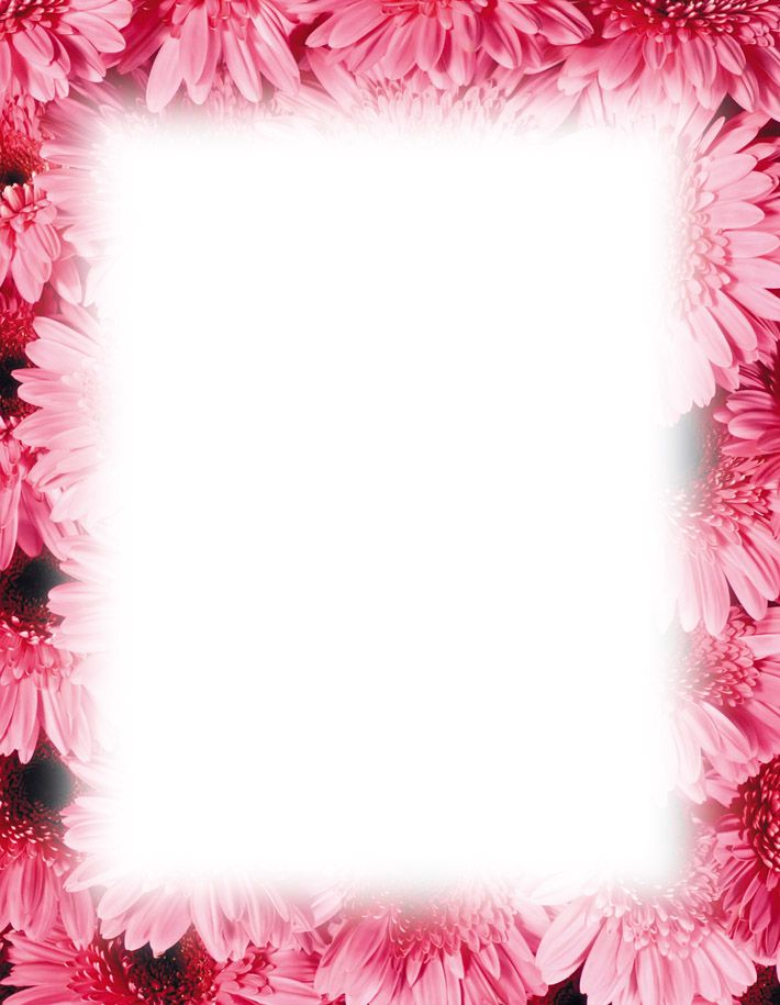 Magnolia Border Free Powerpoint Backgrounds Template – Bordered Paper Printable