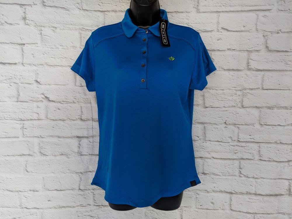 4eb7774713ba7 New OGIO Polo Golf Athletic Shirt M Medium Top Short Sleeve Blue  OGIO   PoloShirt  Casual