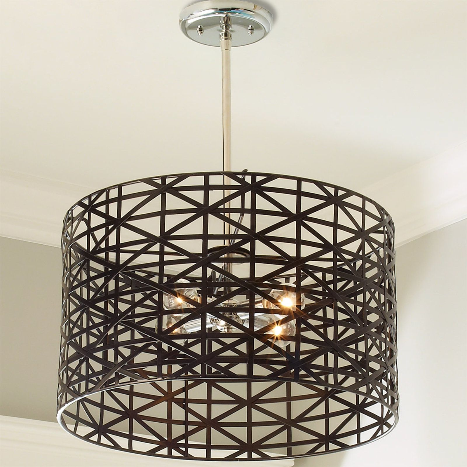 Young House Love Metal Strap Convertible Chandelier Young House Love Ceiling Lights Drum Shade