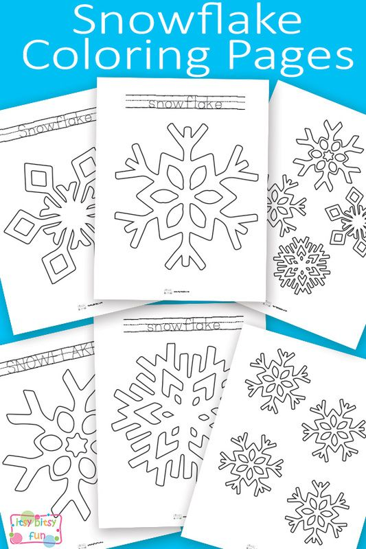 Free Printable Snowflake Coloring Pages for Kids   invierno ...