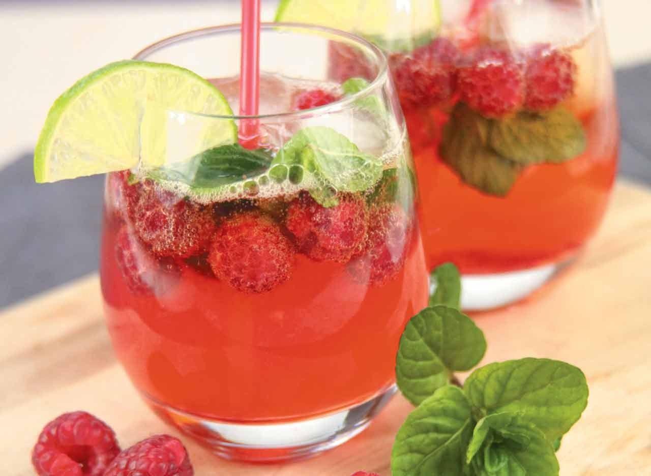 Cocktail cidre ros et framboises  Recette  Recettes  cuisiner  Cocktail cidre Cidre ros