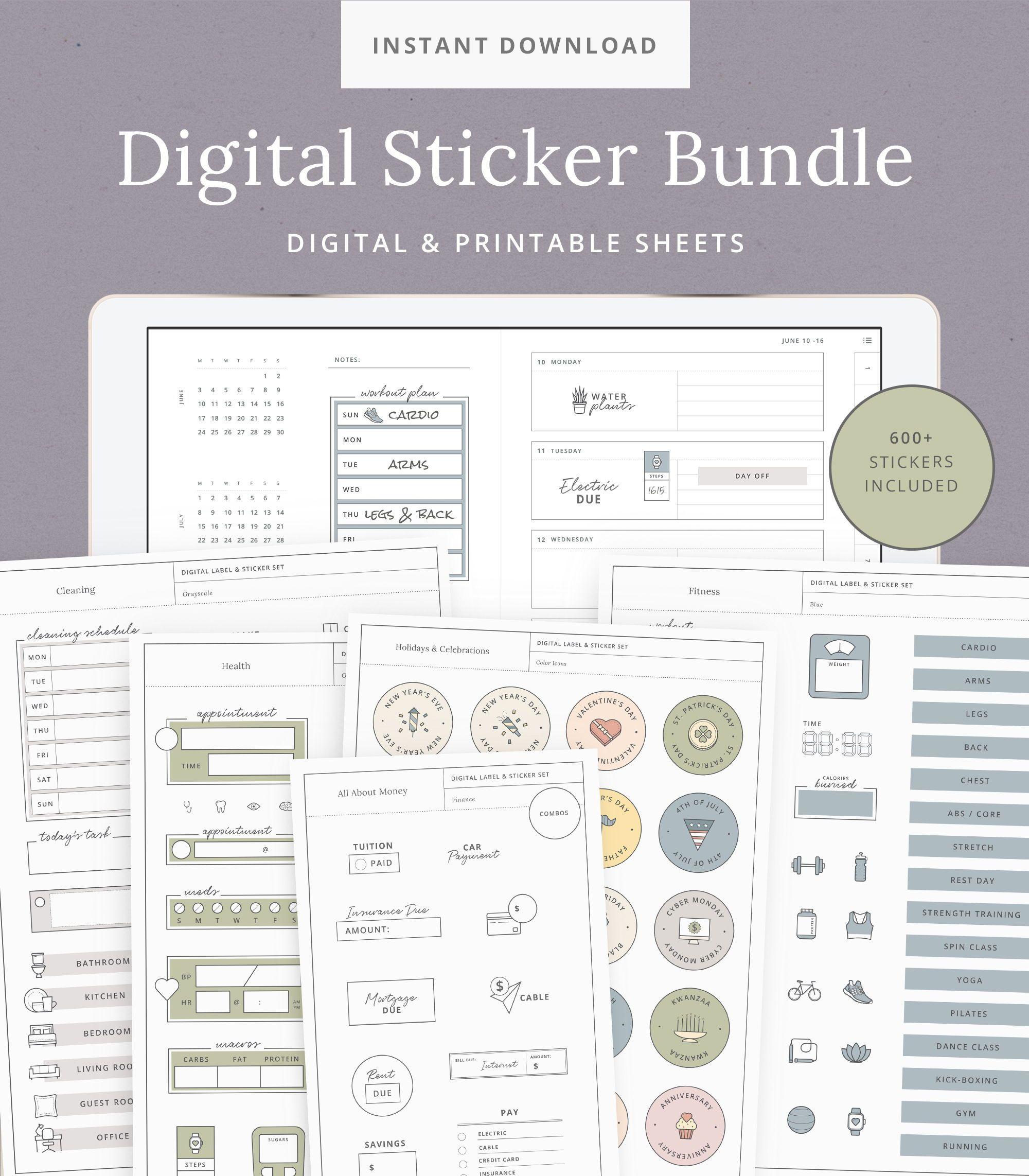 Digital Sticker Bundle For GoodNotes