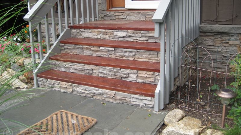 amazing decking with front steps design