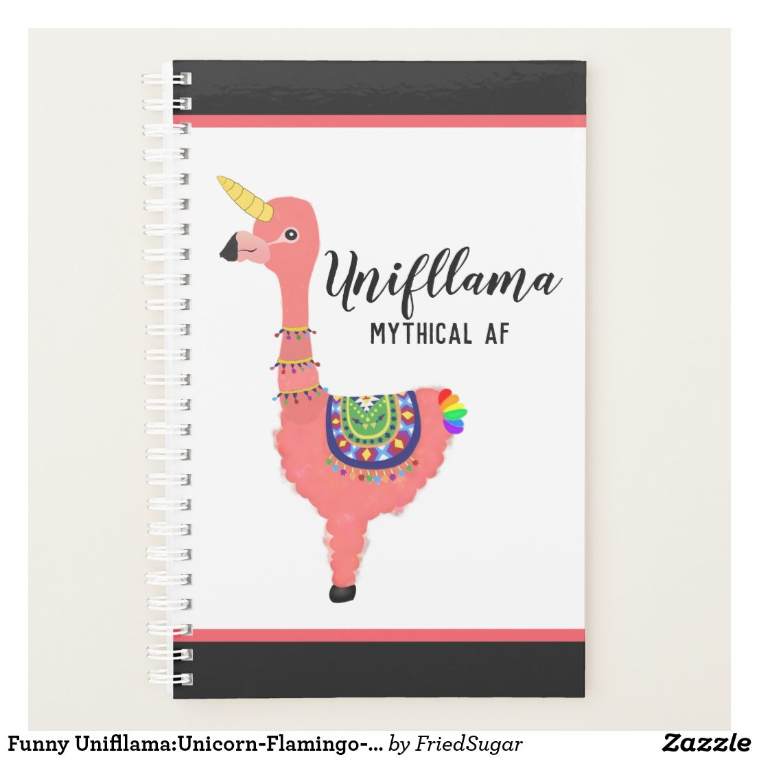 Funny Unifllama Unicorn Flamingo Llama Mythical Af Planner