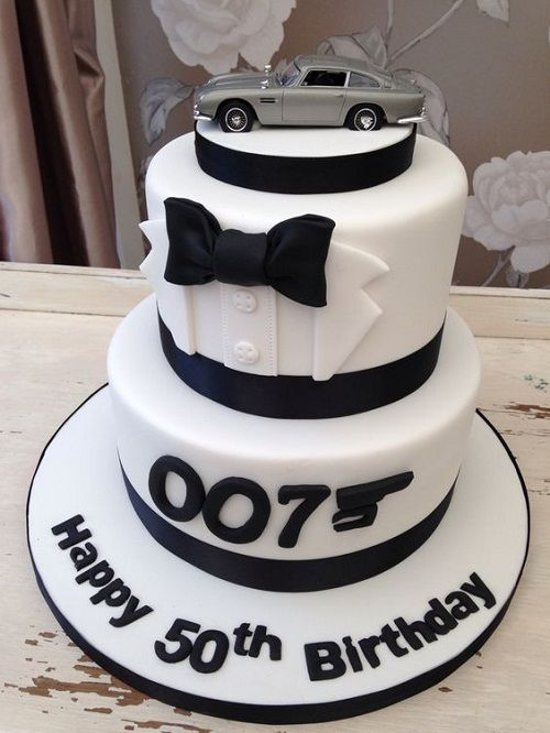 James Bond 50th Birthday Cakes For Men