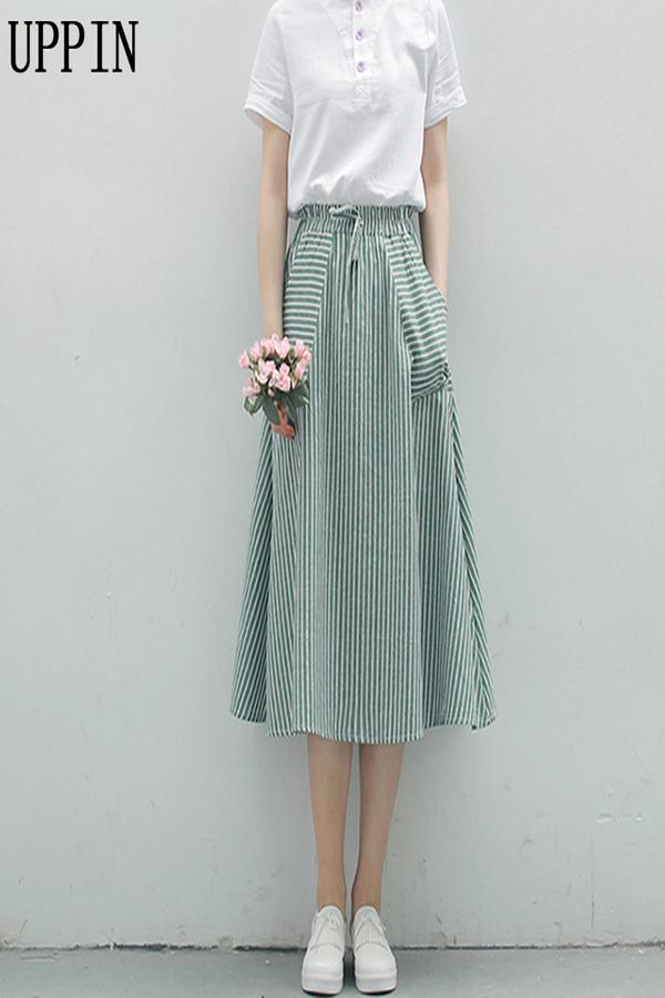 Teen Girls Pleated Skirt High Waist Plaid Short Skirt 2021