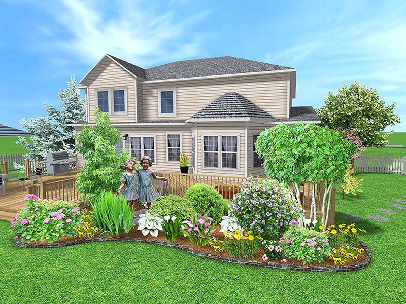 midwest residential landscaping example - Home Landscaping Design