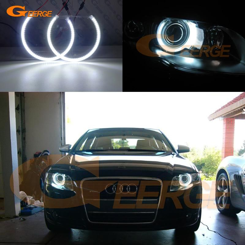 Excellent Ultra Bright Smd Led Angel Eyes Kit Halo Ring Drl For Audi A4 S4 Rs4 B7 2004 2005 2006 2007 2008 2009 Led Angel Eyes Angel Eyes Xenon Headlights
