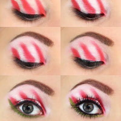 This holiday eye makeup is a sure way to get into the Christmas spirit.