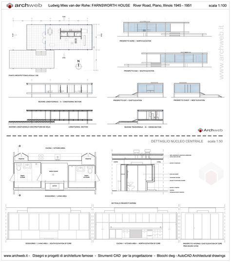 Barcelona Pavilion Floor Plan   Farnsworth House Drawings Plan Farnswor