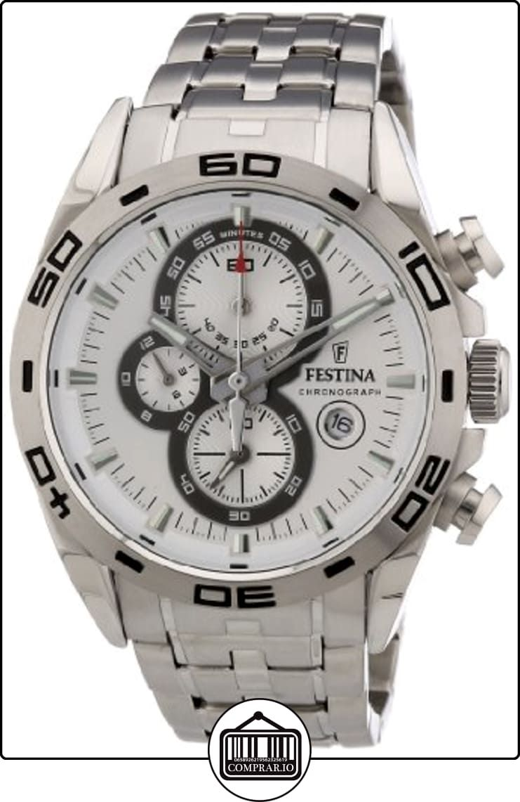 27e62b7a89b5 Festina F16654 1 - Reloj cronógrafo de cuarzo para hombre con correa de  acero inoxidable