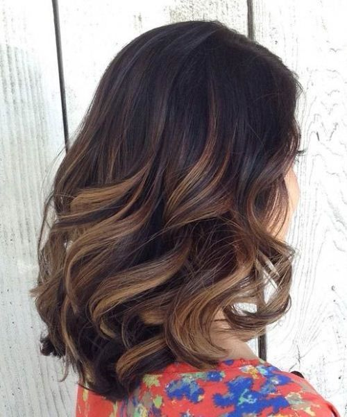 Black To Brown Ombre Balayage Short Hair Ideas Color For