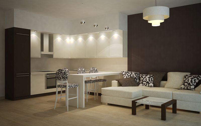 кухня-столовая 15 кв м дизайн фото