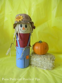 Pams Party & Practical Tips: Pringles Can Scarecrow