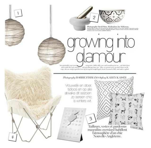 """""""growing into glamour"""" by punnky-interiors ❤ liked on Polyvore featuring interior, interiors, interior design, home, home decor, interior decorating, PBteen, Flos, Tom Dixon and H&M"""