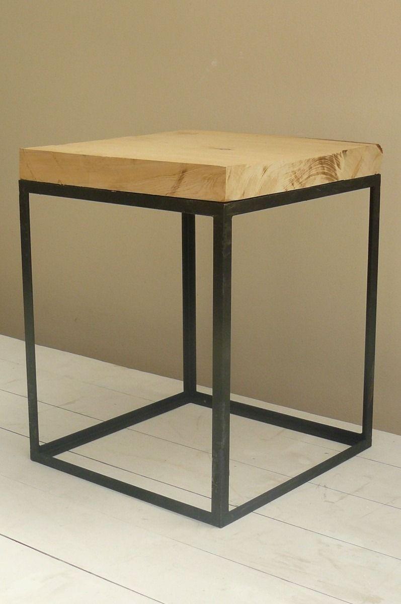 450 mesa baja de madera maciza y hierro mesa - Pintura para hierro exterior ...