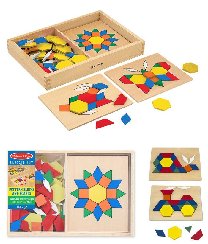 { Top Pick for Special Needs } Follow one of ten design templates or create your own mosaic using these 120 colorful wooden tiles. Matching and mosaics-- a gorgeous way to develop fine motor skills.