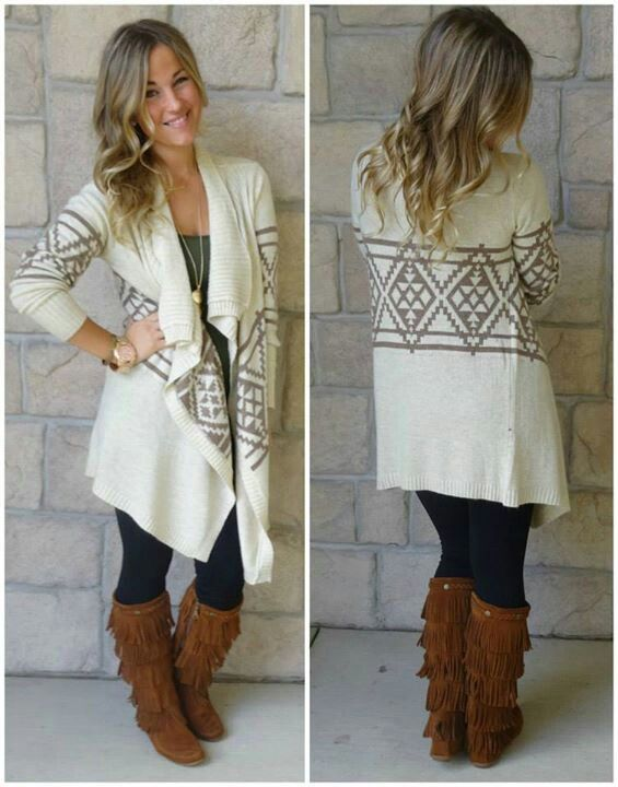 love love this outfit the cardigan and boots omg perfect for