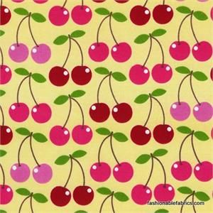 Cherry Fabric - DIY circle skirt, perhaps?