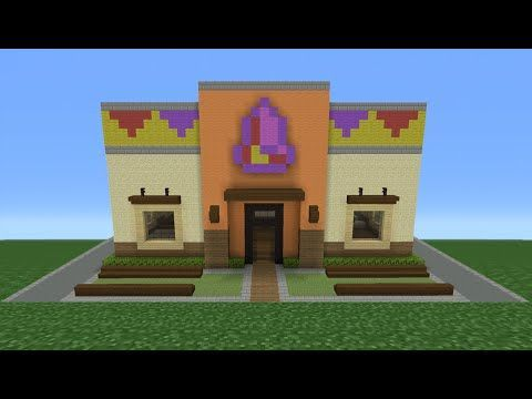 Minecraft Tutorial How To Make A Taco Bell Restaurant Youtube