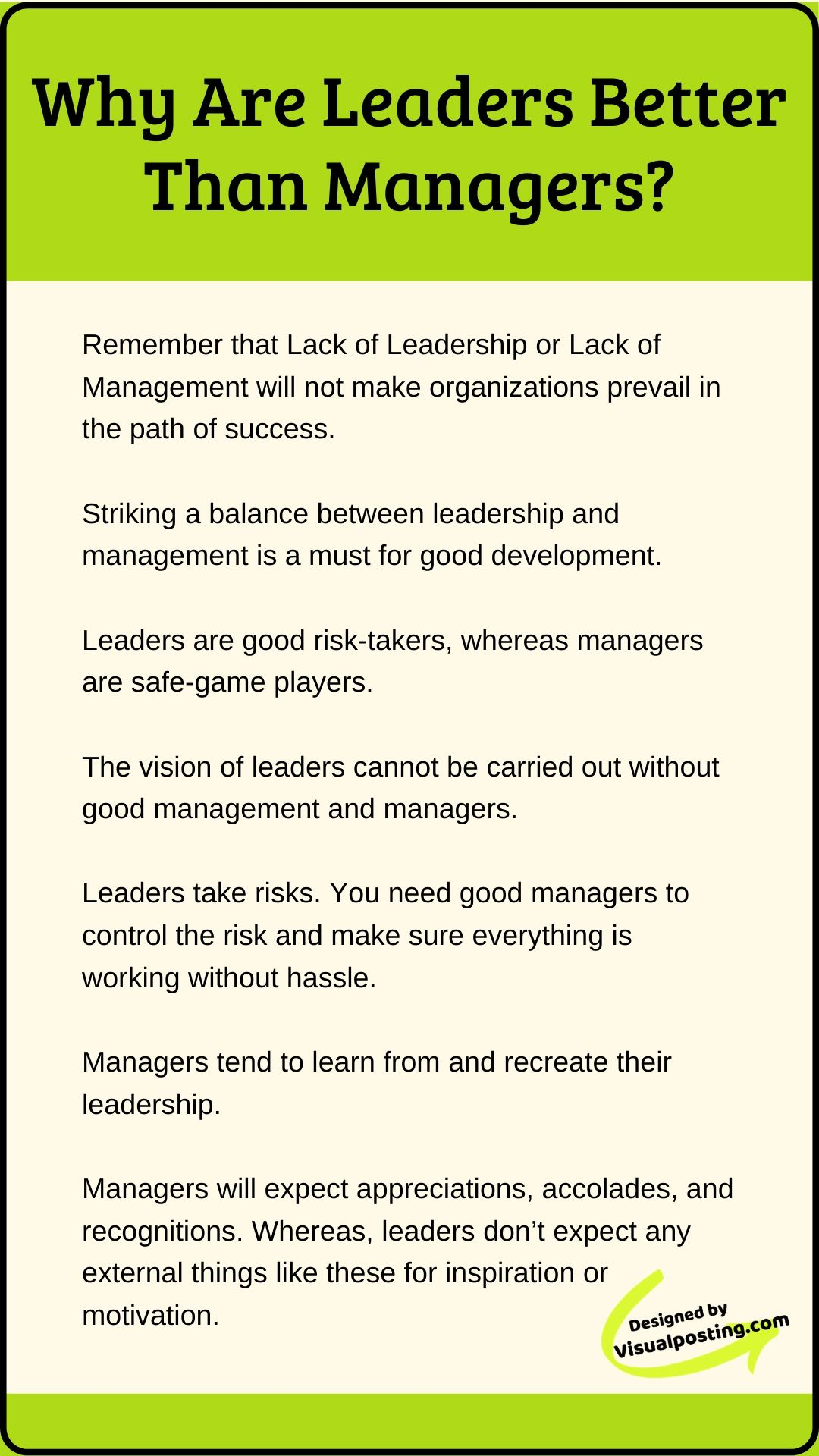 Why Are Leaders Better Than Managers Leadership Jobs Leadership Quotes Work Business Leadership