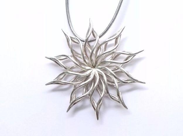 Sunflower Pendant 3d printed Jewelry Pendants premium silver✖️FOSTERGINGER AT PINTEREST ✖️ 感謝 / 谢谢 / Teşekkürler / благодаря / BEDANKT / VIELEN DANK / GRACIAS / THANKS : TO MY 10,000 FOLLOWERS✖️