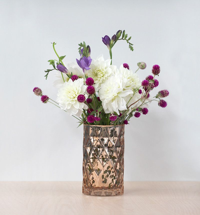 Copper Diamond Vase | Forage & Find Co.