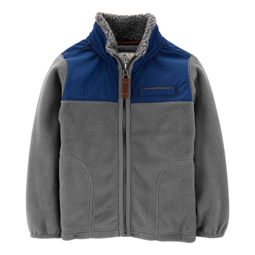 acf68db39 Toddler Boy Carter's Microfleece Jacket   Products   Jackets, Fleece ...