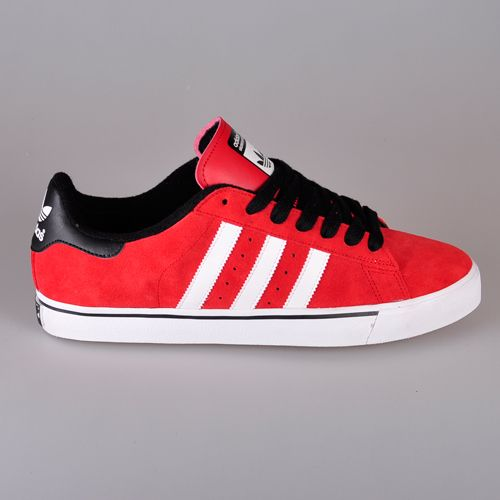 wholesale dealer 3a5e8 1d49b Adidas Campus Vulc - University Red  Running White  Black