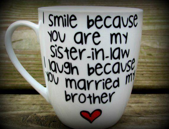 Sister in law Sister in law gift sister in law mug sister in law wedding gift Personalized Sister in law Coffee Mug & Sister in law Sister in law gift sister in law mug sister in law ...
