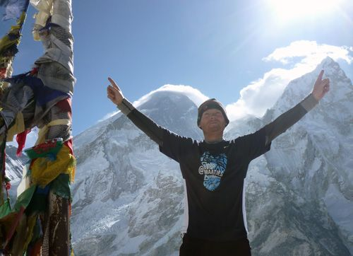 Ron Daalhuizen @ Mount Everest Basecamp