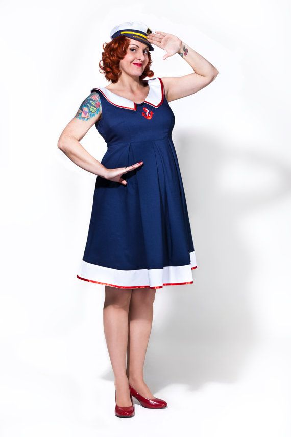 ee883786e6 Rockabilly maternity dress / Sailor Mom by TicciRockabilly on Etsy, $83.00