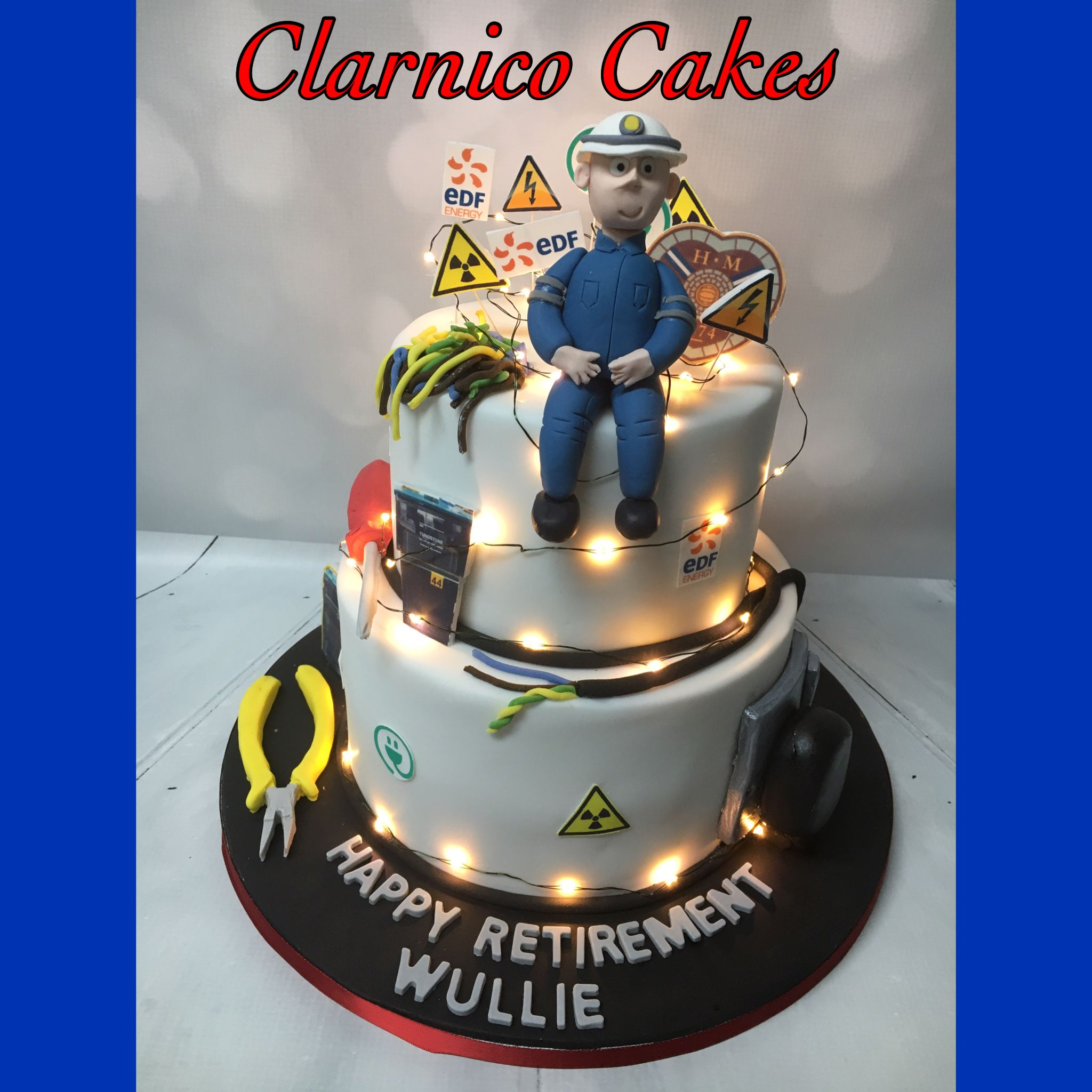 Electrician Retirement Cake
