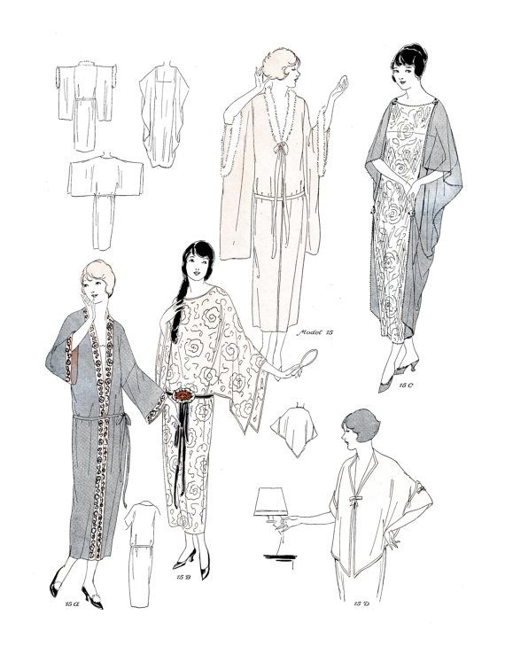 Vintage sewing pattern instructions 1920s flapper basic neglige vintage sewing pattern instructions 1920s flapper basic neglige robes ebook pdf depew 3004 instant download fandeluxe Gallery