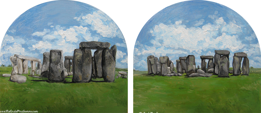 """Stonehenge"" Travel Artist   Oil Painting"