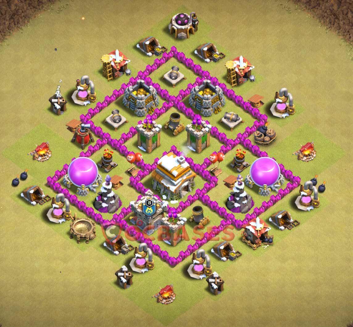 Coc Th6 War Base Base Th 6 Terkuat Anti Bintang 3 2018 8