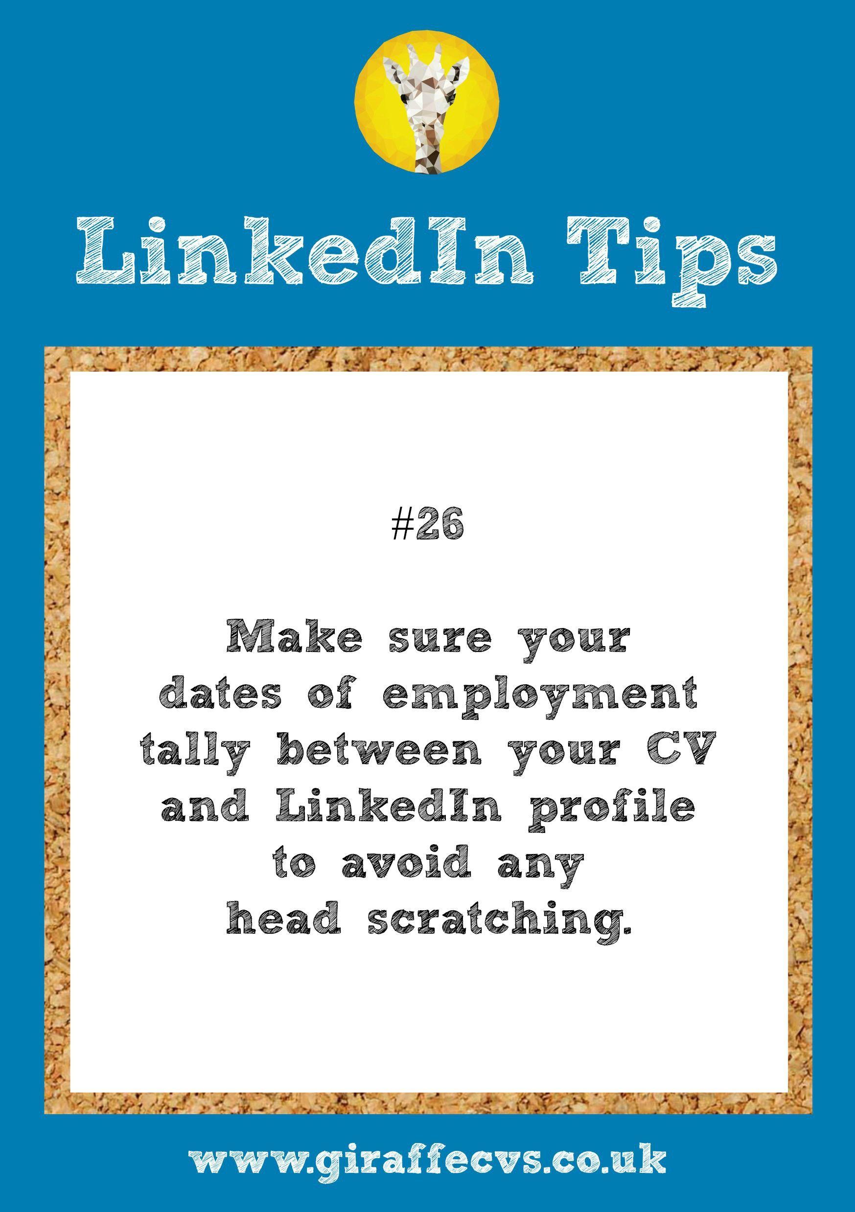 Pin by Giraffe CVs on Free LinkedIn Tips by Giraffe CVs