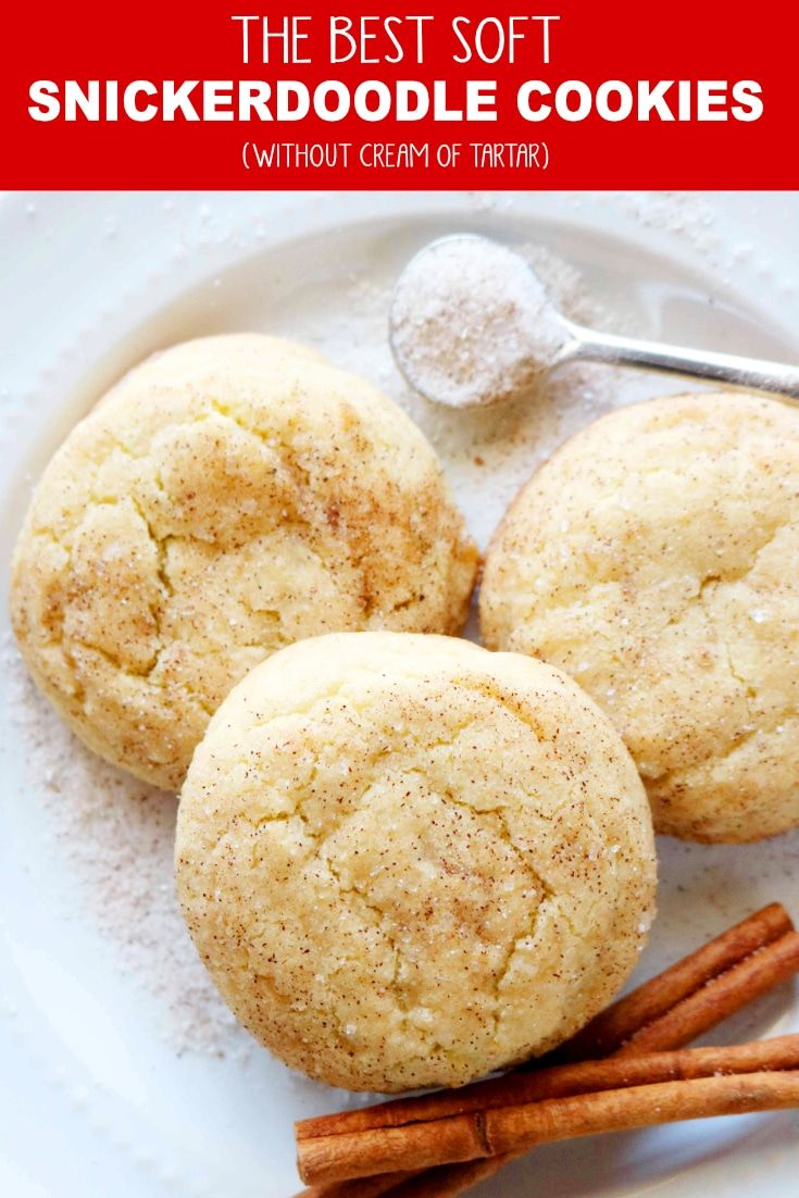 These easy soft Snickerdoodle cookies without cream of tartar are simple to make and turn out perfectly every time Thick and chewy just like a Snickerdoodle should be
