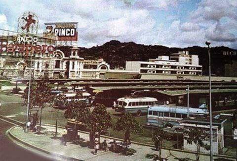 Terminal del Nuevo Circo,Caracas a mediados de los años 50s.