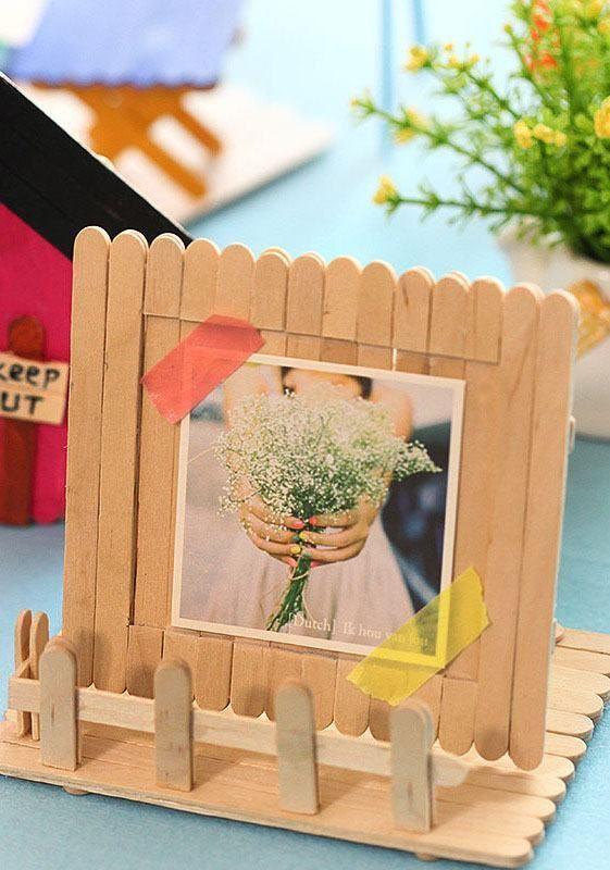 Veja as mais belas referências de artesanato com palito de picolé e sorvete + 10 vídeos com passo a passo.