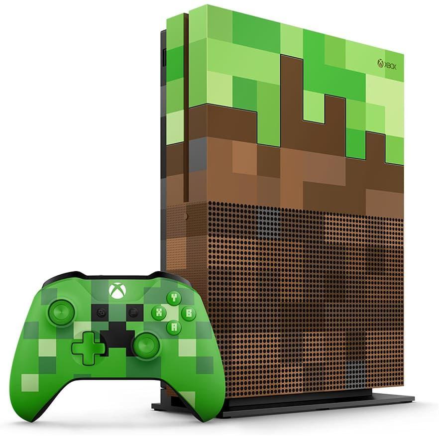 Xbox One S 1tb Minecraft Limited Edition Bundle Xbox One S 1tb Xbox One S Xbox Console
